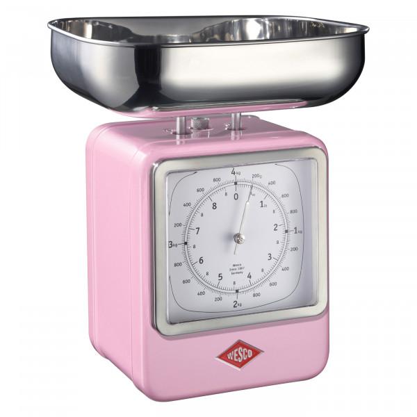 Retro keukenweegschaal met klok