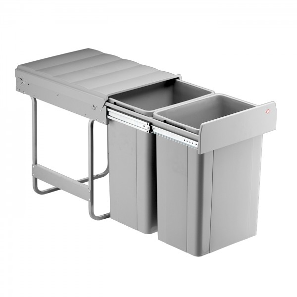Wesco inbouw afvalbak 2 x 26 liter