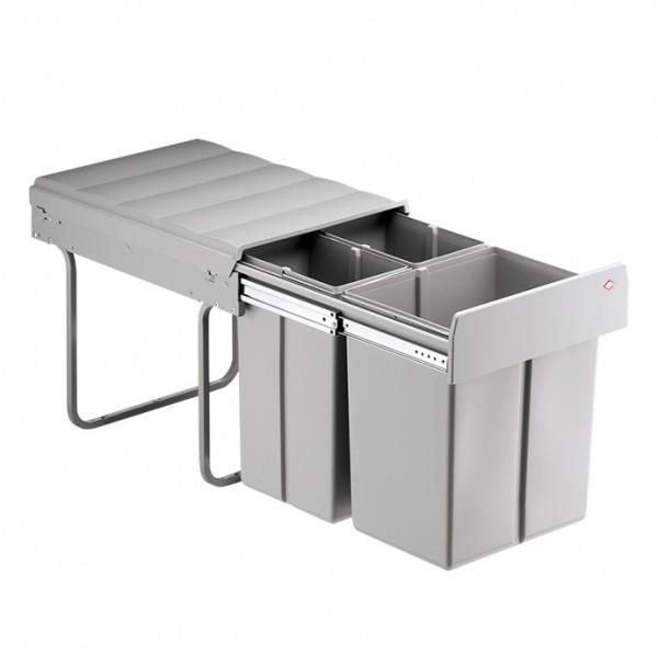 Built-in waste bin 20 litres + 2 x 10 litres